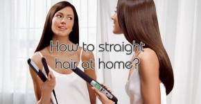 how to straight your hair