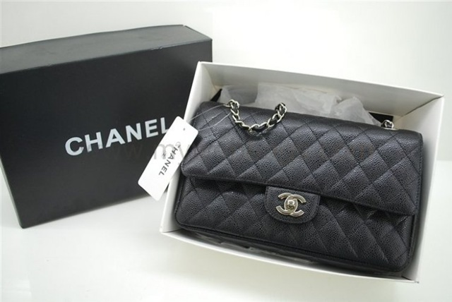 Original Chanel Flap Handbag Take Much Detail In The Leather Peddled Pattern