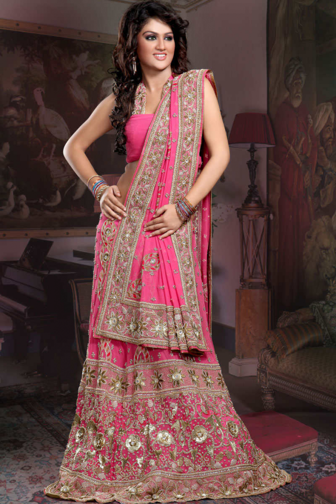 indian-pink-bridal-lehnga-for-women-2013