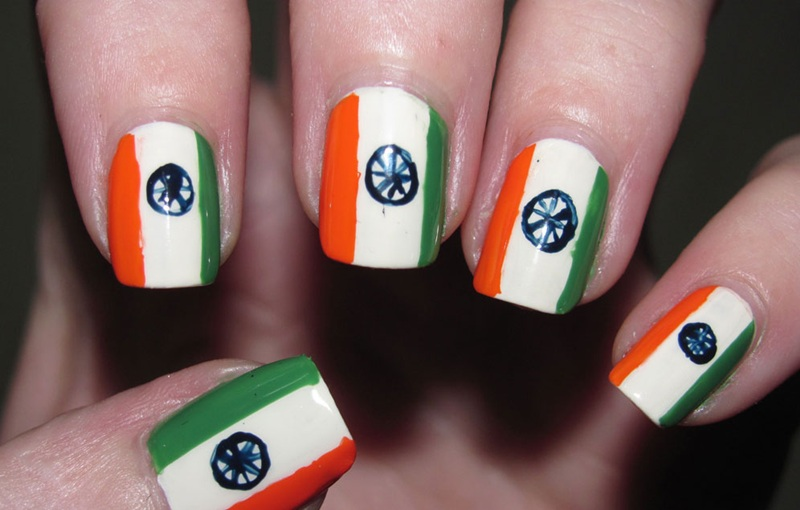 indian-flag-nail-art-design-for-girls