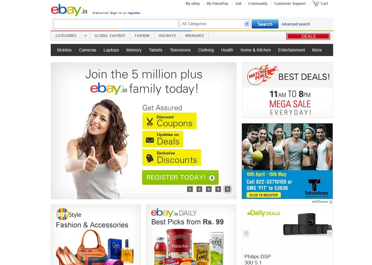 Image gallery shoping ebay for Online websites for shopping