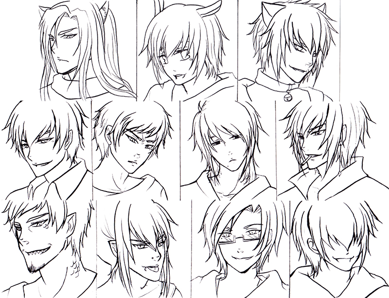 Top image of anime hairstyles male chester gervais anime hairstyles 12 inkcloth urmus Choice Image