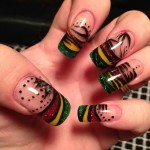 Hand Painted Nail Designs 16