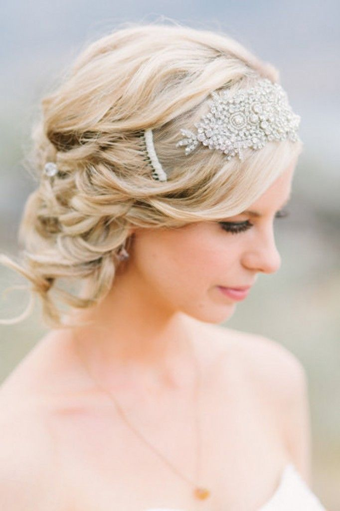 Wedding hair for short hairstyles