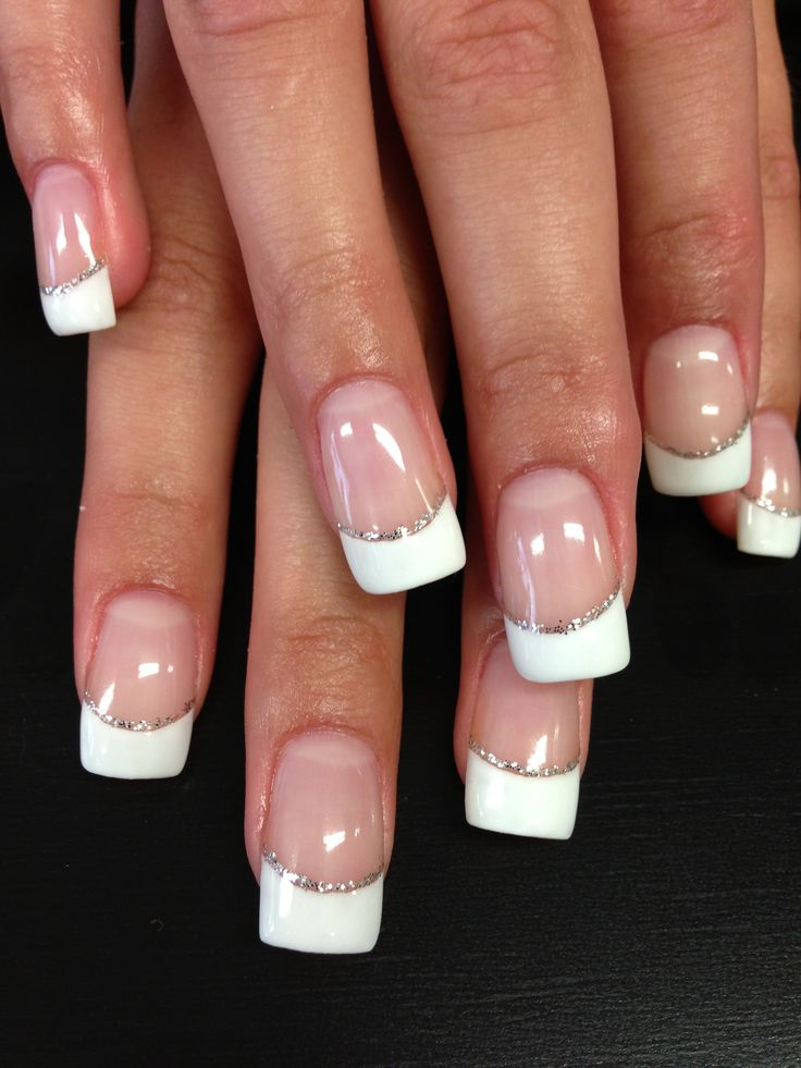 medium french tip nail designs joy studio design gallery