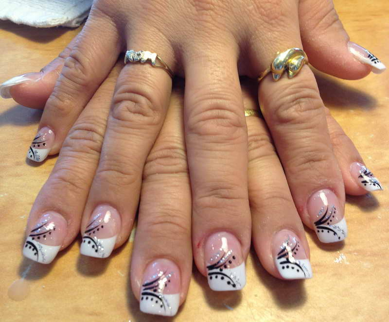 White Tips Designs Nails Ivoiregion