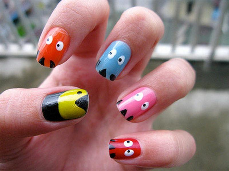 easy cute nail polish ideas 5 - Nail Polish Design Ideas