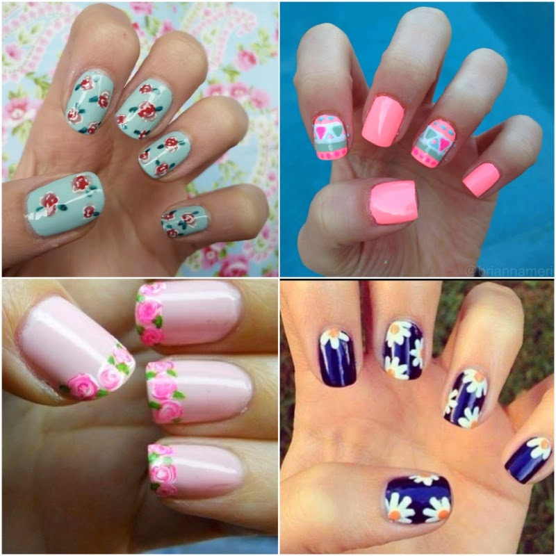 nail design ideas for spring 13 inkcloth