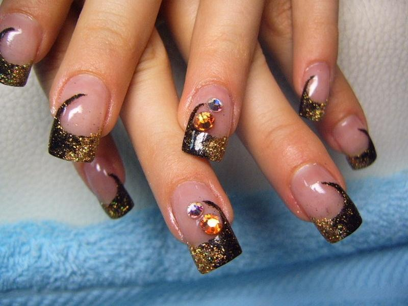 Fantastic Fall Color Acrylic Nails Photos - Nail Art Ideas ...