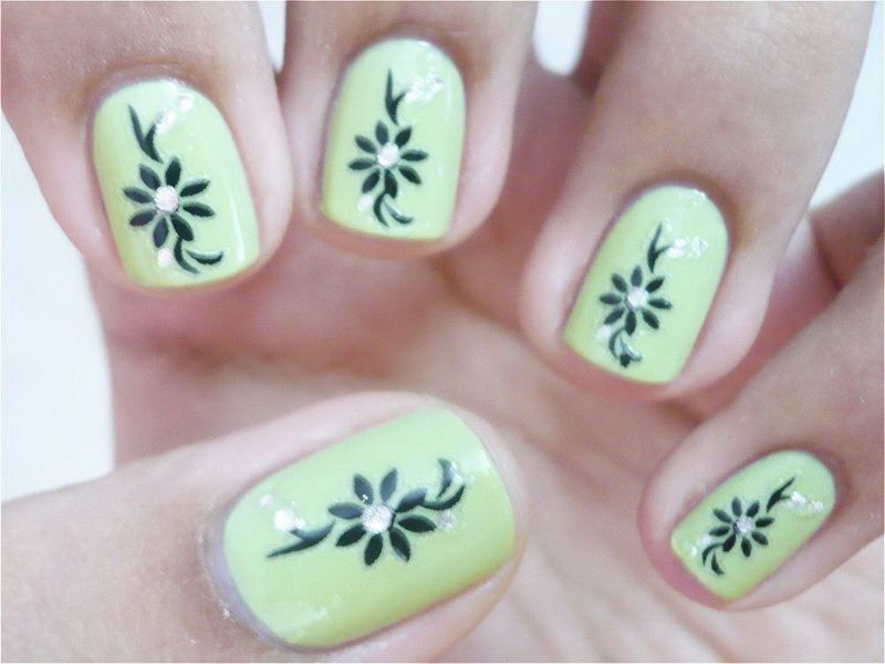 Easy fingernail design ideas for winter season 1 inkcloth - Easy nail design ideas to do at home ...
