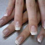 Easy French Manicure for Winter Season