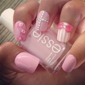 Pink Nail Design Ideas for Winter Season