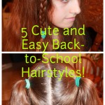 Quick And Easy Hairstyles For School Image