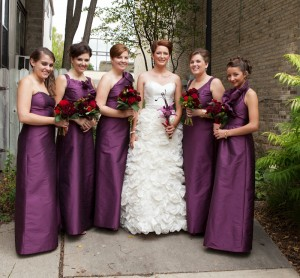 Bridesmaid Dresses Different Styles Same Color