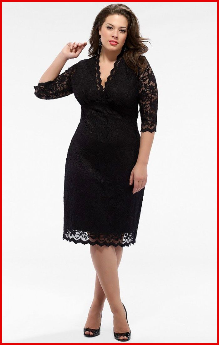 elegant plus size cocktail dresses - inkcloth