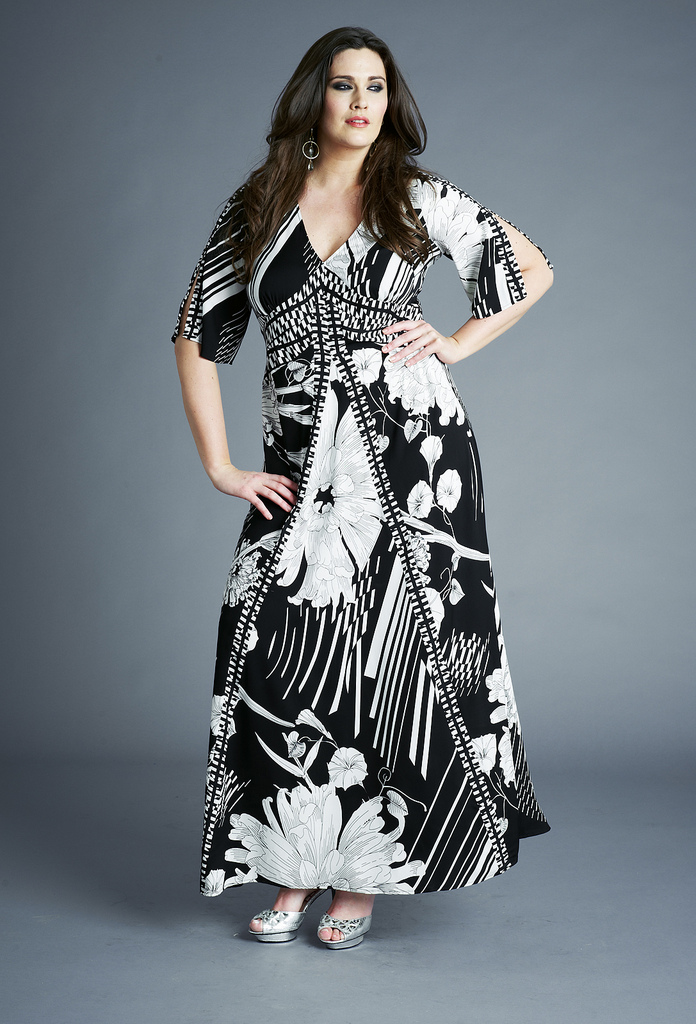 maxi dresses for plus size women - inkcloth